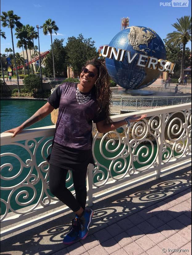 Ludmilla aproveitou e também fez uma visita ao parque da Universal