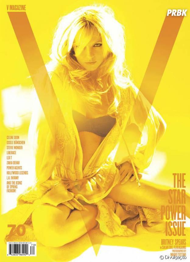 Britney Spears para a capa da V Magazine