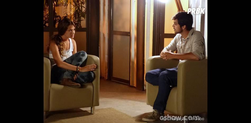 """Em """"Além do Horizonte"""", Marlon (Rodrigo Simas) e Lili (Juliana Paiva) acham que perderam William (Thiago Rodrigues)"""
