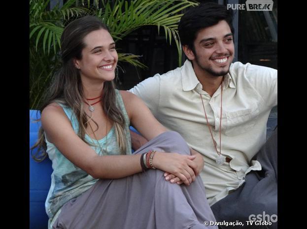 """Em """"Além do Horizonte"""", tá começando a rolar um clima Lili (Juliana Paiva) e Marlon (Rodrigo Simas)"""