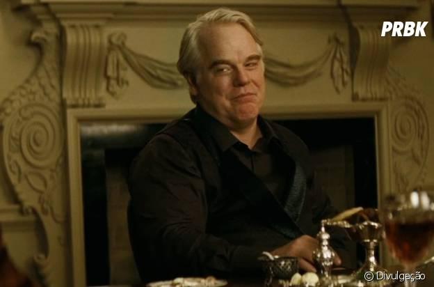 "Philip Seymour Hoffman estava atuando na saga ""Jogos Vorazes"" comoPlutarch Heavensbee"