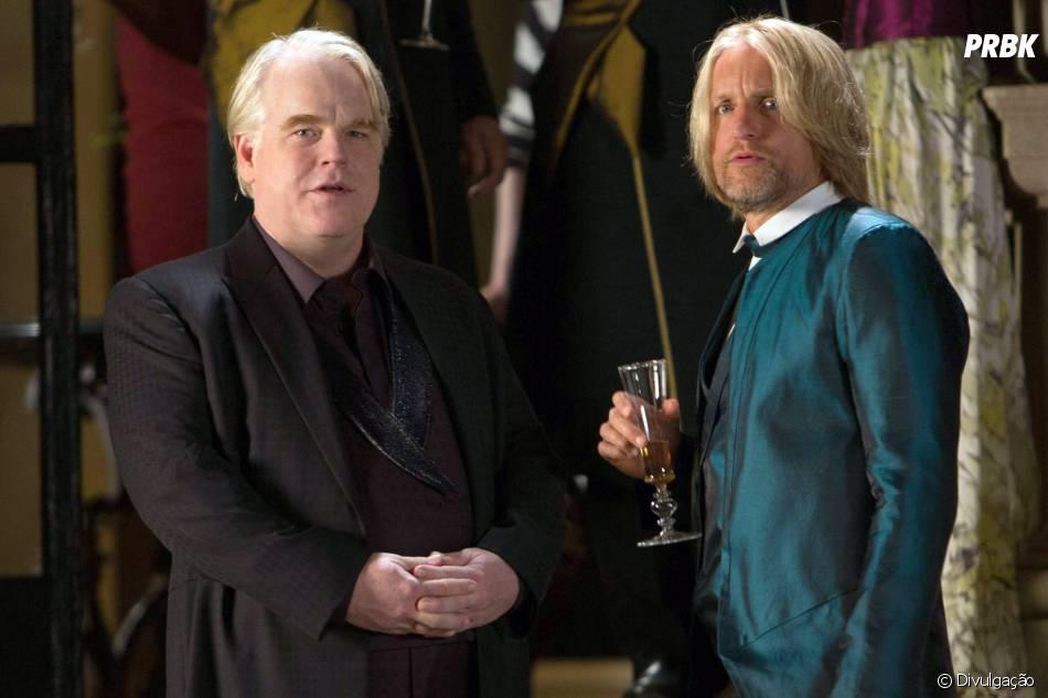 "Philip Seymour Hoffman era Plutarch Heavensbee em""Jogos Vorazes: Em Chamas"""