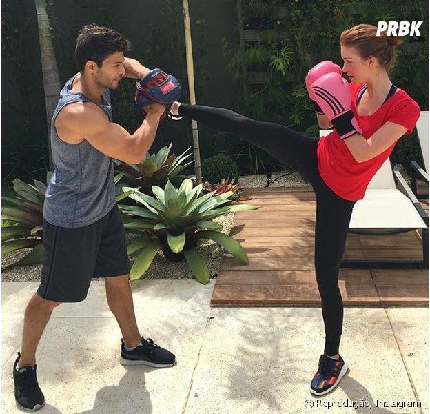"""Marina Ruy Barbosa, de """"Totalmente Demais"""", posa em treino de muay thai e recebe elogios!"""