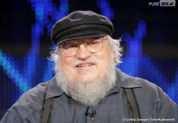 """Autor George R.R. Martin em coletiva da série """"Game of Thrones"""" da HBO em 2011"""