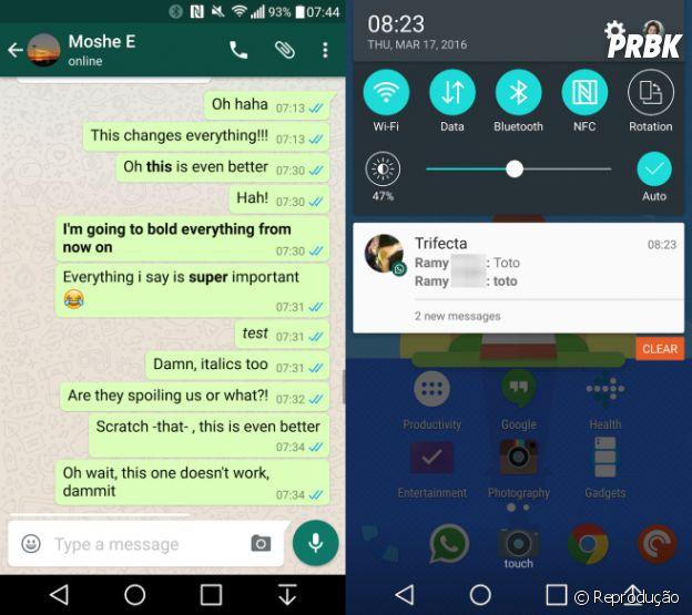 WhatsApp pode passar a permitir que usuários formatem o texto das mensagens