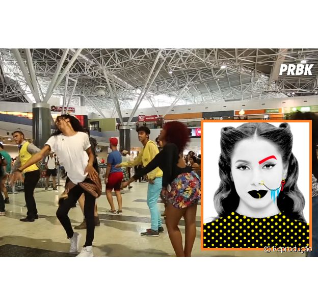 """Fãs da Anitta promovem flashmob do hit """"Bang"""" em aeroporto"""