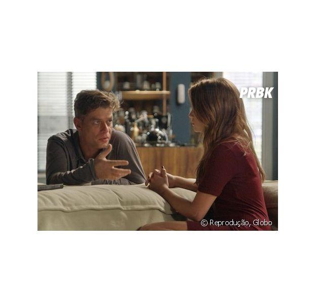 """Em """"Totalmente Demais"""", Eliza (Marina Ruy Barbosa) é flagrada com Rafael (Daniel Rocha) na cama e é atacada por Arthur (Fábio Assunção): """"Você destruiu meu coração"""""""