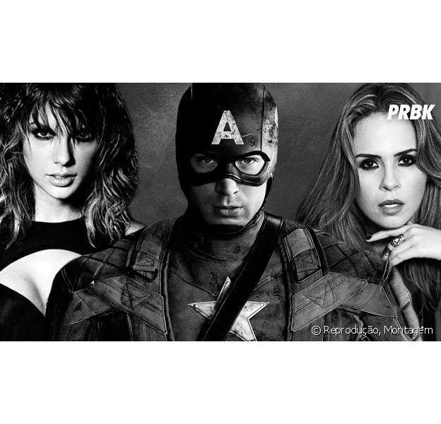 """De """"Capitão América 3"""": Taylor Swift, Ana Paula Renault e quem mais poderia fazer parte do time do herói"""