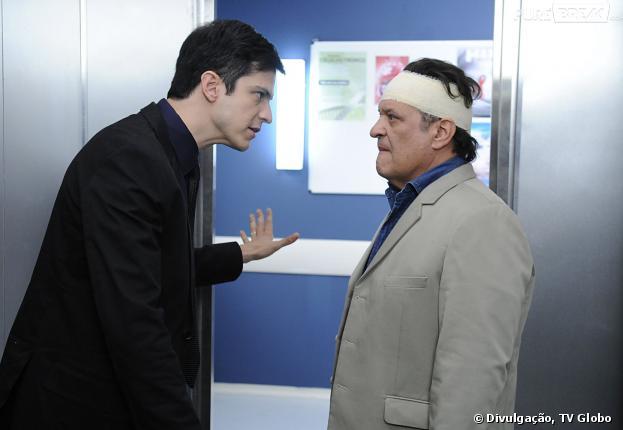 """Em """"Amor à Vida"""", Félix (Mateus Solano) vai ter a ajuda de Atílio (Luis Melo) para se vingar de César (Antônio Fagundes)"""
