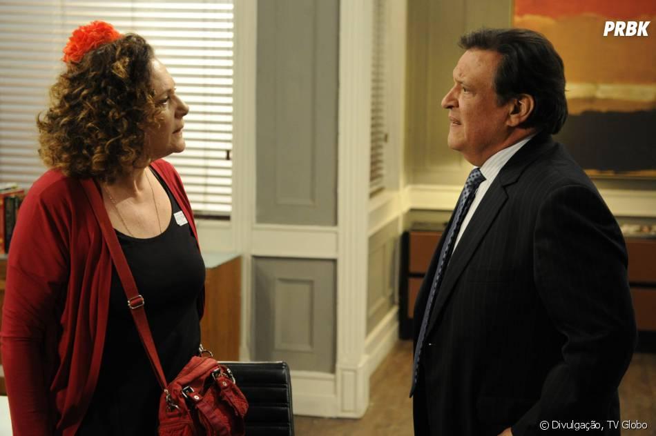 """A ex-chacrete Márcia (Elizabeth Savala)vai ficar revoltada quando o Atílio(Luis Melo)sugerir que ela seja sua amante em """"Amor à Vida"""""""