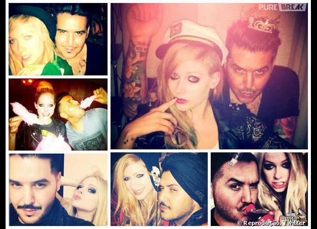 Avril Lavigne anunciou em seu Twitter que está vindo para o Brasil. Na imagem podemos ver ela e seu maquiador Gabriel Panduro.