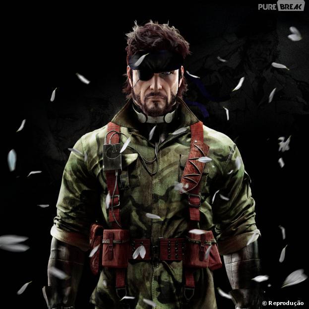"""Solid Snake em """"Metal Gear Solid"""". Game criado por Hideo Kojima"""