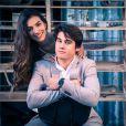 """Nicolas Prattes ao lado de Marina Moschen, com quem faz par romântico em """"Malhação"""". Os dois são muito shippados pelos fãs"""