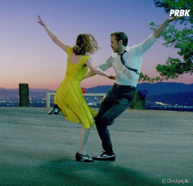 """Emma Stone e Ryan Gosling contracenam, mais uma vez, no musical """"La La Land"""""""