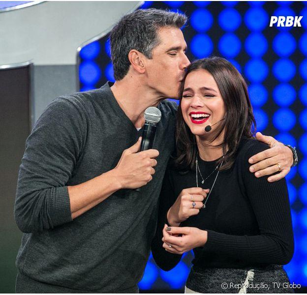 """Bruna Marquezine é a primeira convidada do """"Tamanho Família"""", novo programa de Marcio Garcia na Globo"""