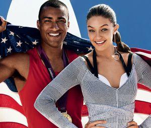 Gigi Hadid e Ashton Eaton posam juntos na nova edição da Vogue americana