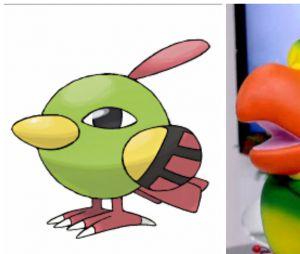 O Louro José é bastante parecido com o pokemón Natu