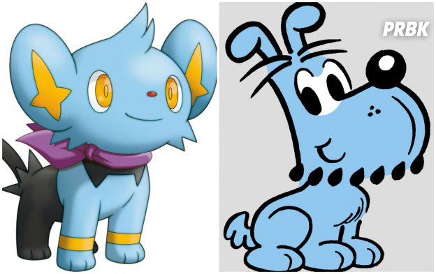 O Bidu lembra bastante o pokemóm Shinx