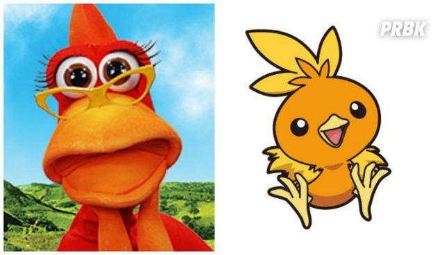 """O pokemón Torchic teria a versão brasileira como Zazá do programa """"Cocoricó"""""""