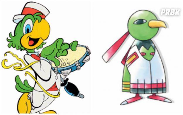 O Zé Carioca, que tem super cara de brasileiro, poderia ficar no lugar do pokemón Xatu