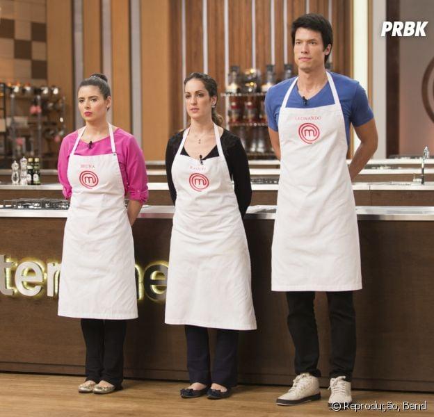 """No """"MasterChef Brasil"""": Leonardo, Bruna ou Raquel? Veja quem será finalista!"""