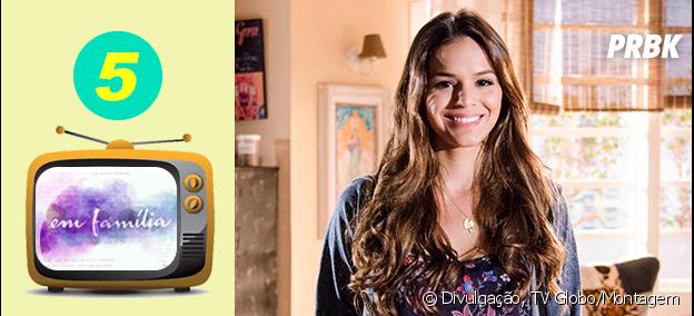 """Na novela """"Em Família"""", Bruna Marquezine viveu a jovem Luíza"""