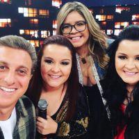 """Marília Mendonça e Maiara & Maraisa cantam juntas no """"Caldeirão do Huck"""" e fãs piram no Twitter"""