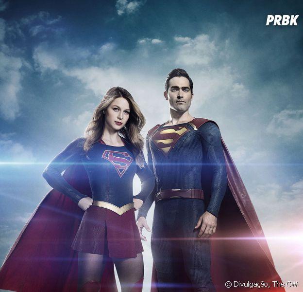 "Em ""Supergirl"": Kara (Melissa Benoist) fica com ciúme da fama de Superman (Tyler Hoechlin)"