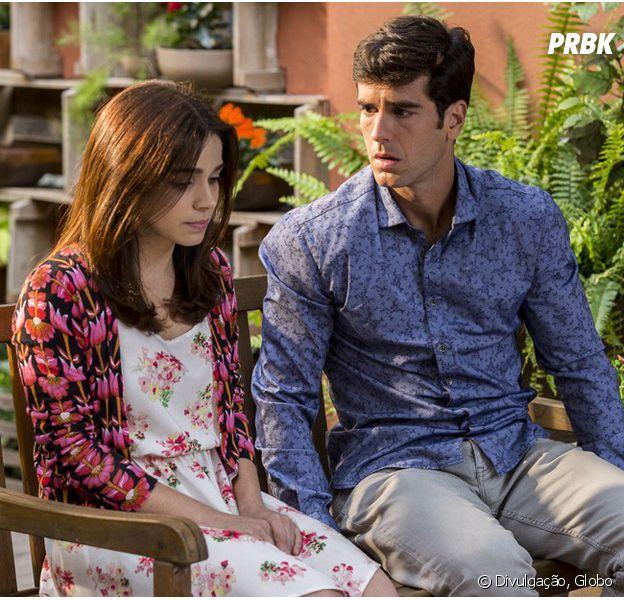 """Em """"Haja Coração"""", Shirlei (Sabrina Petraglia) pensa em terminar com Felipe (Marcos Pitombo)!"""