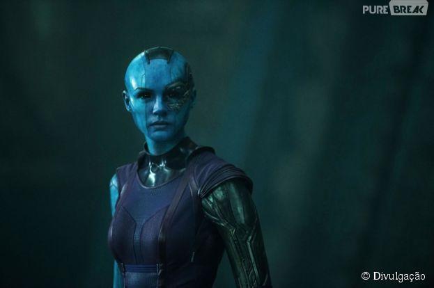 """Karen Gillian é a heroína Nebula em """"Guardiões da Galáxia"""""""