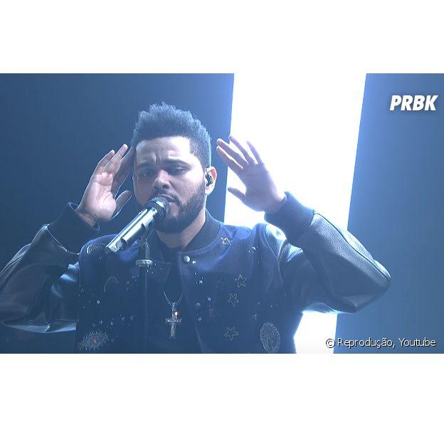 """The Weeknd apresentou ao vivo as músicas """"Starboy"""" e """"False Alarm"""" no Saturday Night Live"""