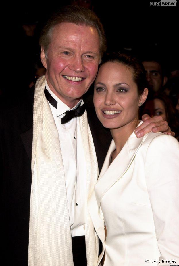 <p>Atores de primeira grandeza! Angelina Jolie seguiu a profissão artística do pai, Jon Voight</p>