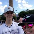 Larissa Manoela e João Guilherme Ávila estão aproveitando as férias no parque Universal Orlando, na Flórida