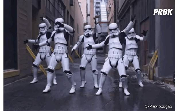 Stormtroopers dançarinos: profissão mais antiga da galáxia