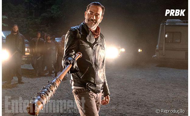"""Negan (Jeffrey Dean Morgan) é ou não é o maior vilão da história de""""The Walking Dead"""", hein?"""