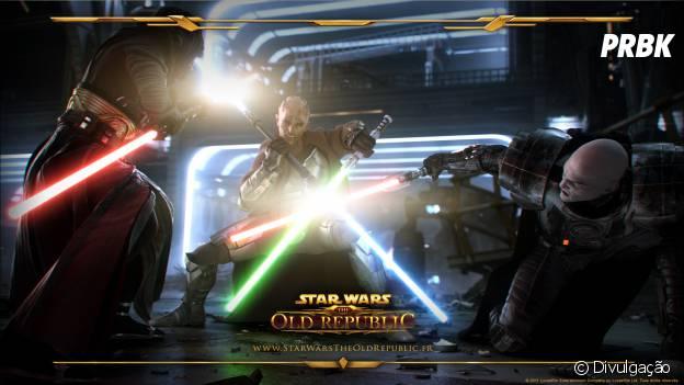 """Lutas de sabres de luz com gráficos incríveis em """"Star Wars: The Old Republic"""""""