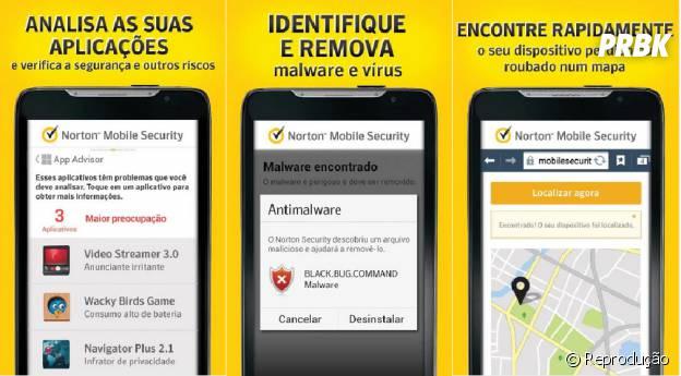 Norton além de proteger o aparelho de malware pode proteger de bandidos!