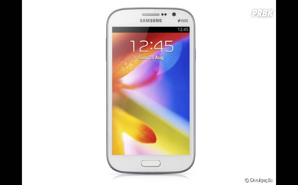Samsung Galaxy Grand Duos, com tela grande e permite dois chips