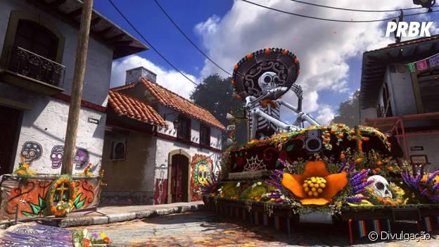 "O mapa ""Departed"" de ""Call Of Duty: Ghosts"" se passa no colorido dia dos mortos mexicano"