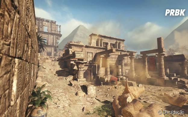 """""""Pharaoh""""é um mapa de""""Call Of Duty: Ghosts"""" com tema do Egito antigo"""
