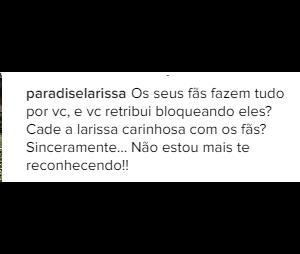 Fãs criticam Larissa Manoela pelo Instagram
