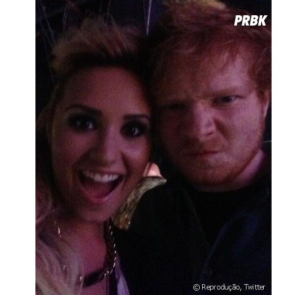 Demi Lovato e Ed Sheeran estão produzindo música juntos