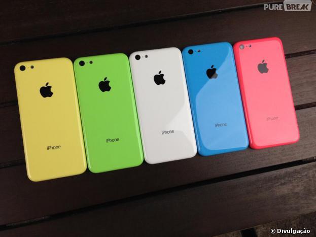 iPhone 5c possui várias cores