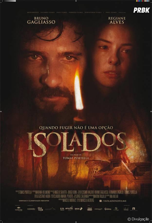 """Cartaz do filme """"Isolados"""", com Bruno Gagliasso e Regiane Alves"""