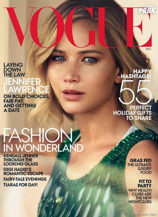 Jennifer Lawrence na capa da Vogue Magazine