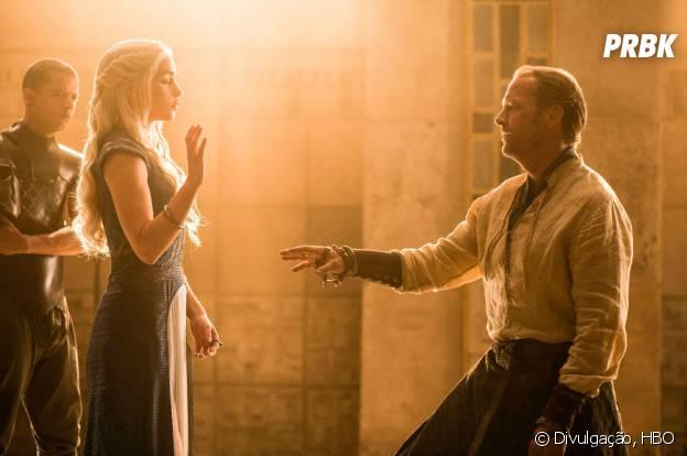 """Daenerys (Emilia Clarke) baniu Sor Jorah (Iain Glen) em """"Game of Thrones"""""""