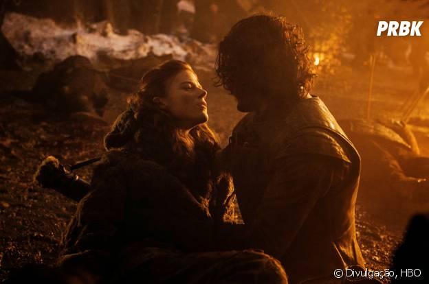 """Em """"Game of Thrones"""", Ygritte (Rose Leslie) morreu nos braços de Jon Snow (Kit Harington)"""