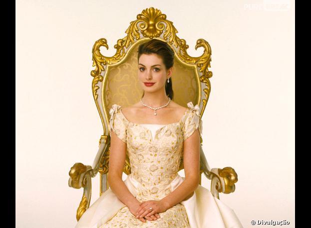 "Anne Hathaway interpretou Mia Thermopolis em ""O Diário da Princesa""!"