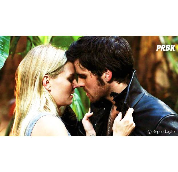 """Emma (Jennifer Morrison) e Hook (Colin O'Donoghue) finalmente vão se beijar em """"Once Upon a Time""""! OMG!"""