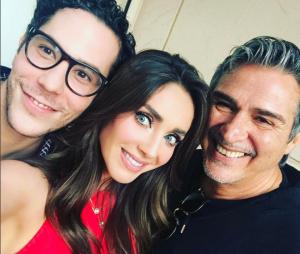Anahi e Christian Cháves, do RBD, se encontram com produtor da banda e fãs surtam!